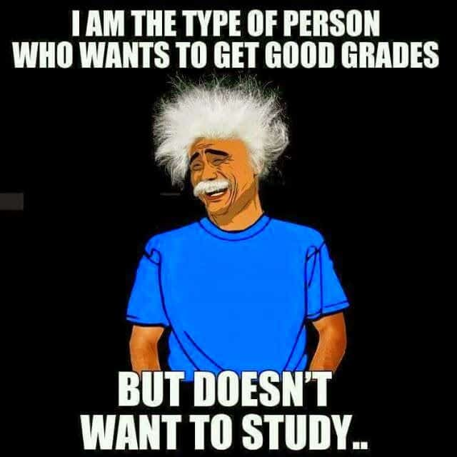 i don't want to study funny Exams-WhatsApp-DP for students