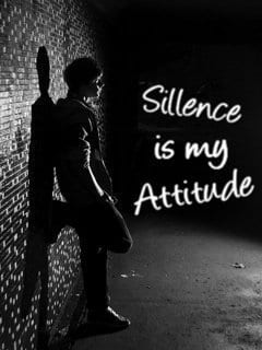 sillence is my attitude whatsapp dp of boy