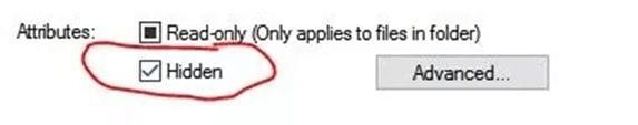Hide Folders/Files Using CMD