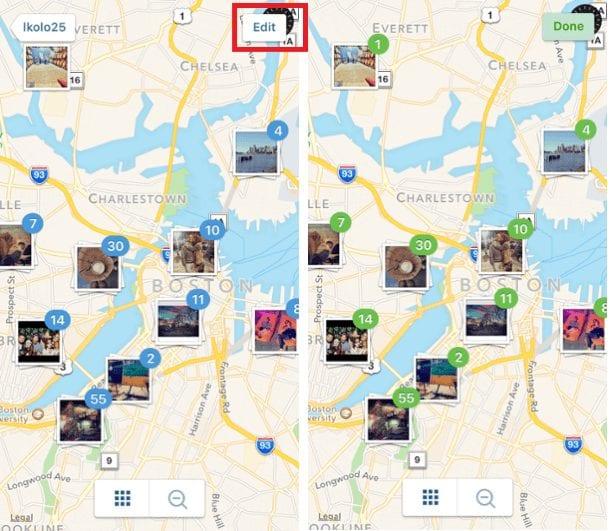 google map on instagram