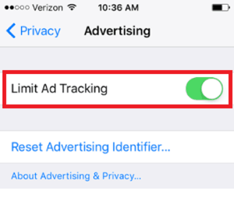 limit ad tracking on instagram