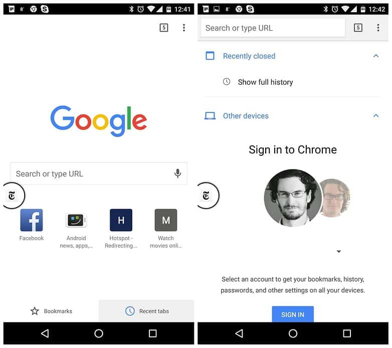 Access Chrome tabs from other devices - Cool Things You Didn't Know Your Android Could Do