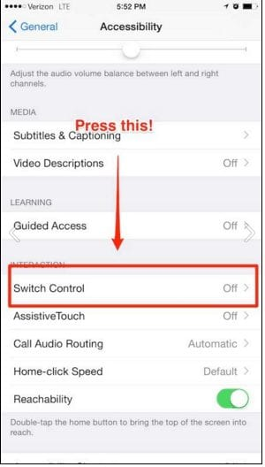Control your iphone by simply moving your head