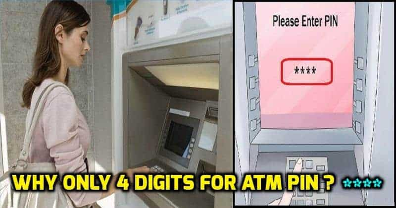 4 digits for atm pin