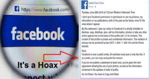 Don't Fall For This Facebook Hoax: Status Updates About Facebook Privacy, Permission Setting Are False