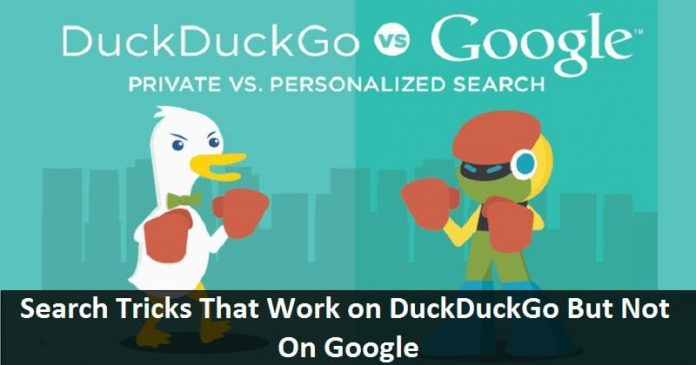 Tricks that work on DuckDuckGo but not on google2