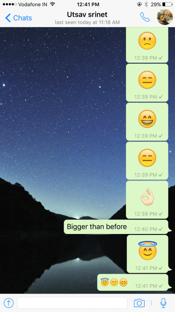 WhatsApp For iOS Update Brings Bigger Emoji, Ability To Delete Multiple Private Chats Simultaneously (1)