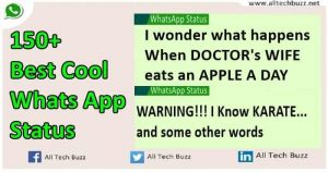 150+ Best Cool Whatsapp Status Of 2016 ! Update Your Status Daily