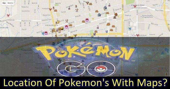 pokemons maps