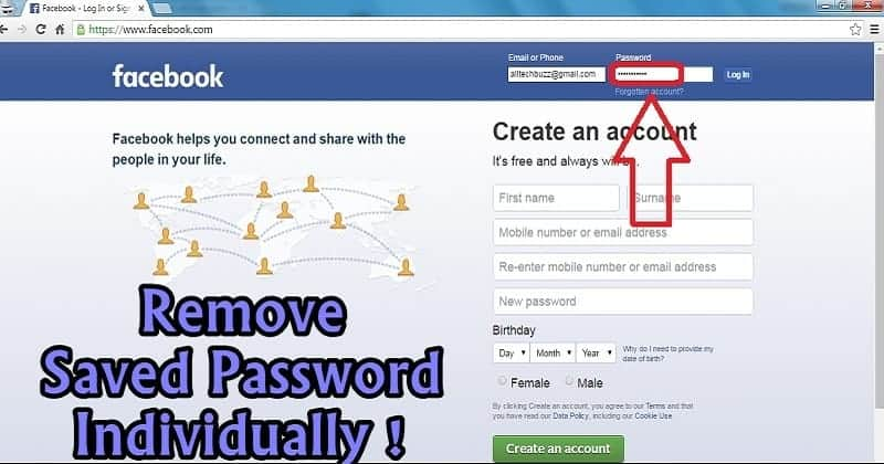 remove saved password atb