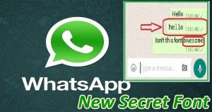 Do You Know The Secret Font In Whatsapp Chat? Here's A Trick To Use It