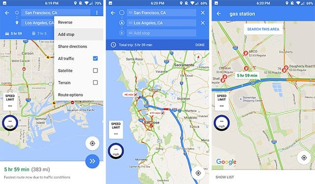Add a Pit Stop &Check Gas Prices - Google Maps Tips And Tricks For Android You Need To Know