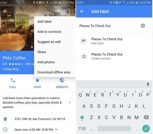 Add labels to places - Google Maps Tips And Tricks For Android You Need To Know