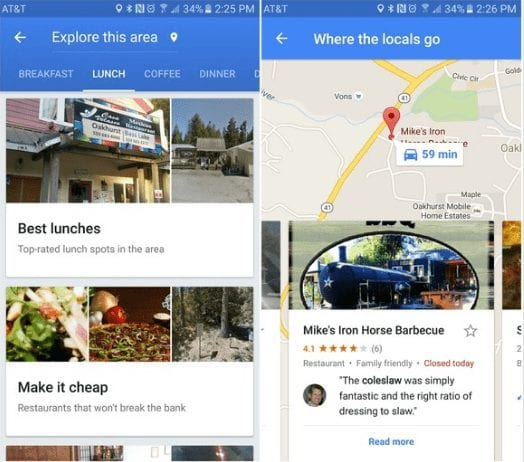 Find local favourites - Google Maps Tips And Tricks For Android You Need To Know