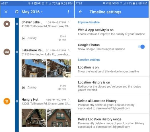 Keep your timeline - Google Maps Tips And Tricks For Android You Need To Know