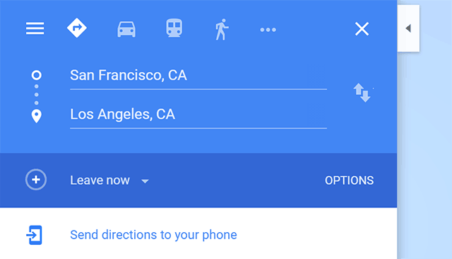 Send Directions to Your Phone