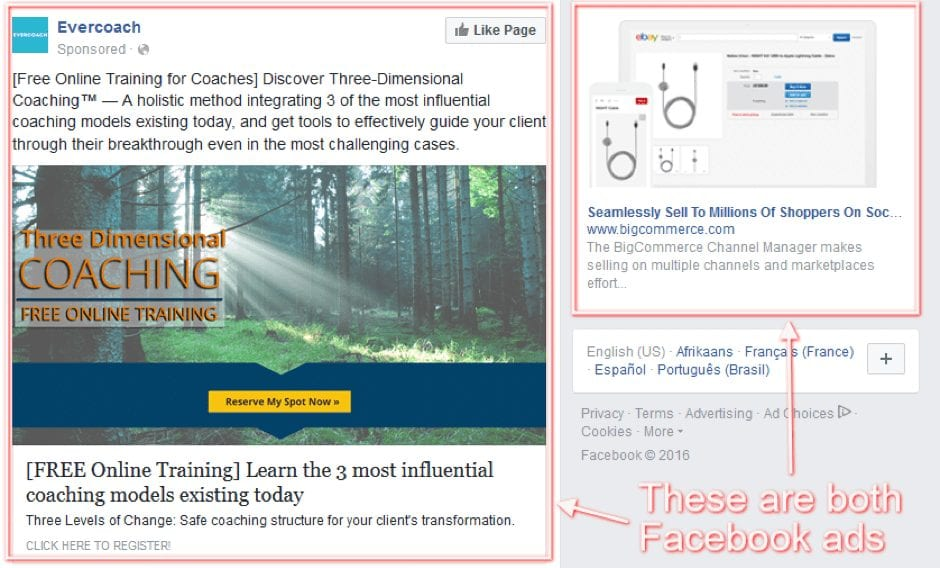 facebook paid ads