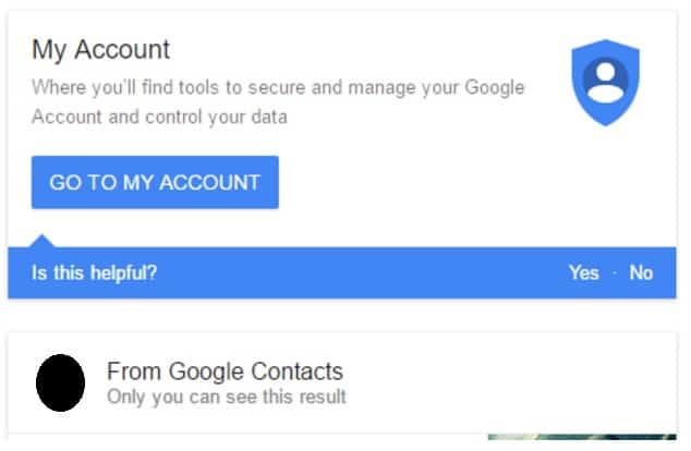 google my account