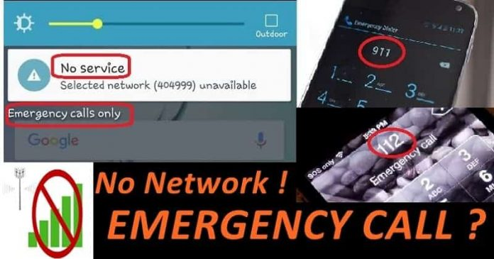 make emergency call without network
