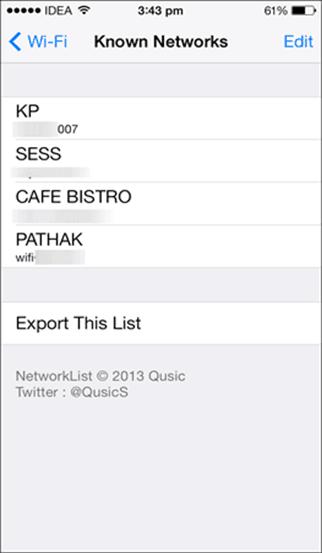 View Wi-Fi Password on iOS device