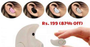 Invisible Wireless Bluetooth 4.0 Music EarBud EarPhone