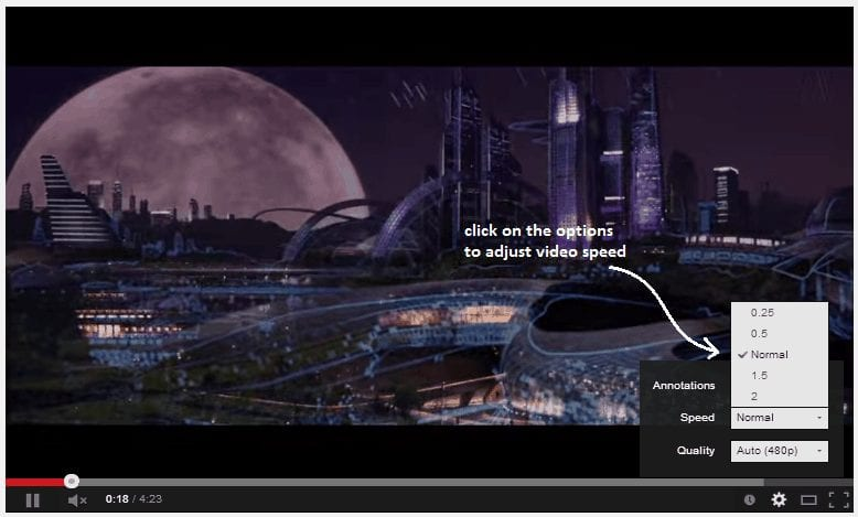 Change The Video's Playback Speed