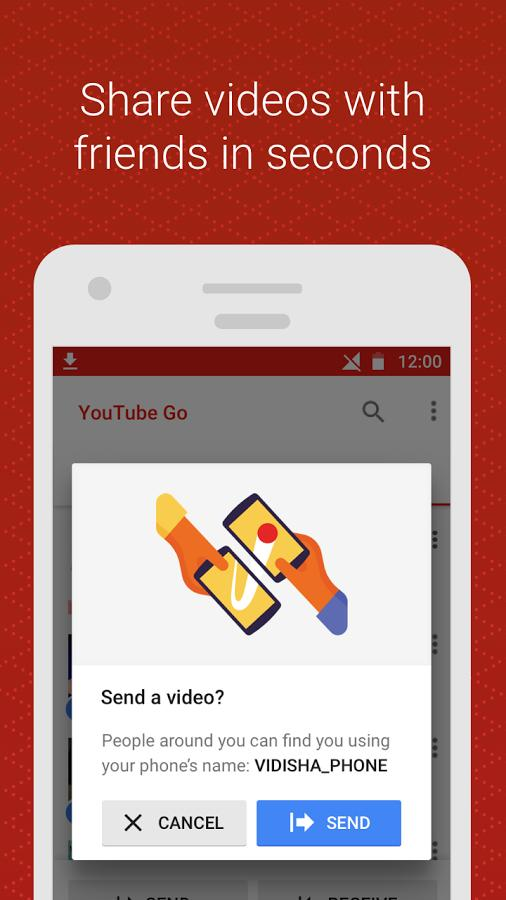 Share videos with friends