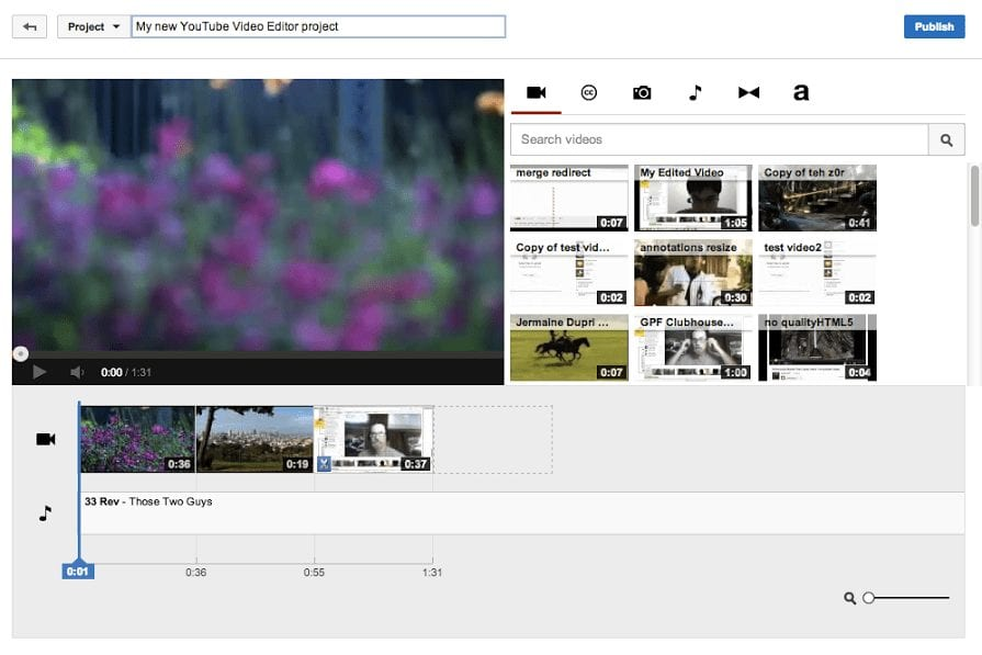 The YouTube Video Editor