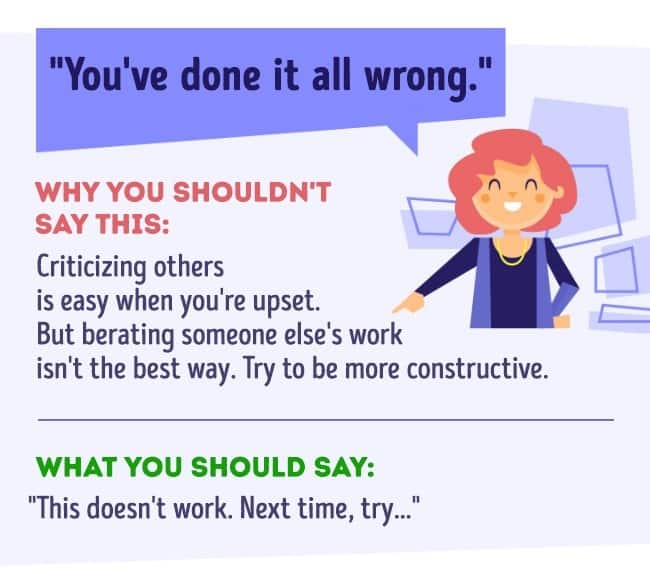 Things you should never say at work 10
