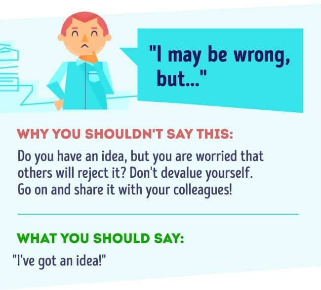 Things you should never say at work 11