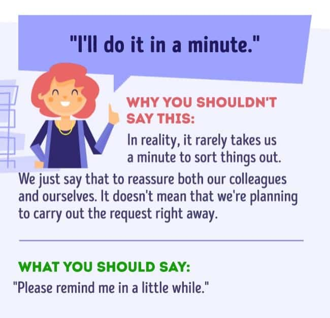 Things you should never say at work 4