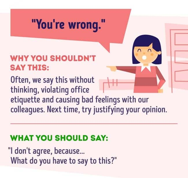 Things you should never say at work 6