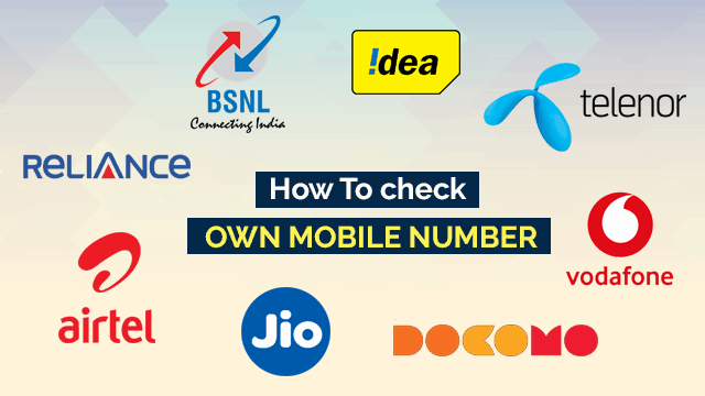 How to check own mobile number