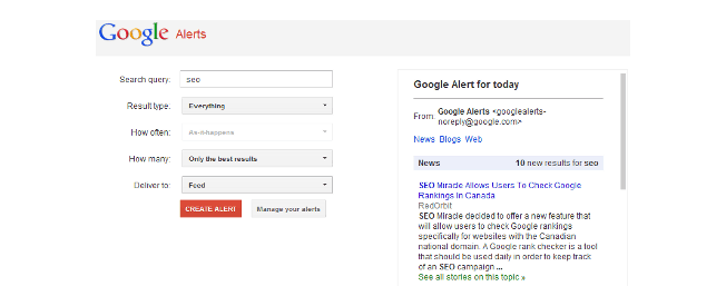 Google Alerts-12 Awesome Free Google Tools All Content Marketers Should Use