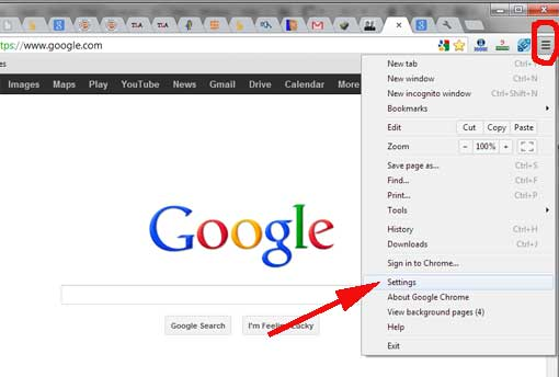 chrome-settingsمنع تلقي إشعارات المواقع على سطح المكتب وعلى الفيس بوك عبر متصفح جوجل كروم