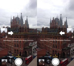 Switch the direction of Panorama mode-23 Awesome, Little-Known iPhone Features That Apple Doesn't Talk About (15)