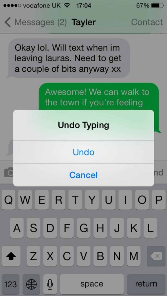 Shake to undo-23 Awesome, Little-Known iPhone Features That Apple Doesn't Talk About (16)