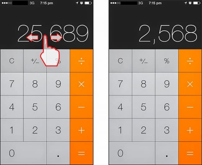 Delete numbers in the Calculator app-23 Awesome, Little-Known iPhone Features That Apple Doesn't Talk About