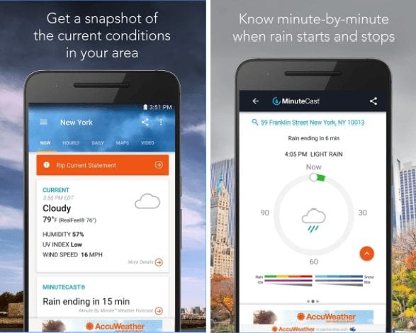 Accuweather-15 Best And Beautiful Weather Widgets For Your Android Home Screens