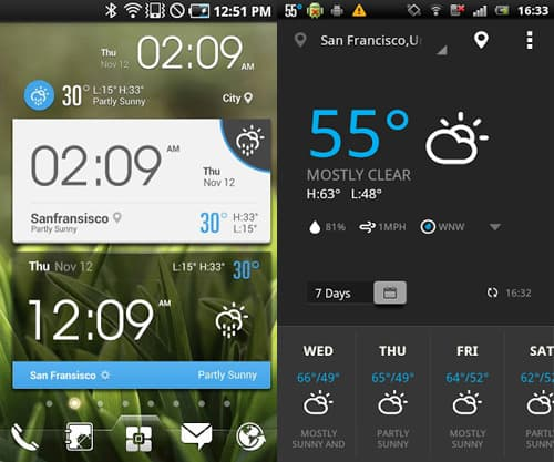 Amber Weather-15 Best And Beautiful Weather Widgets For Your Android Home Screens