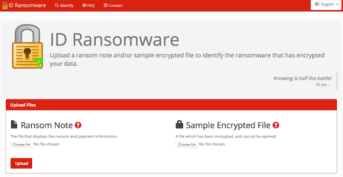 ID-Ransomware-6 Top Sites and Apps to Beat Ransomware and Protect Yourself!