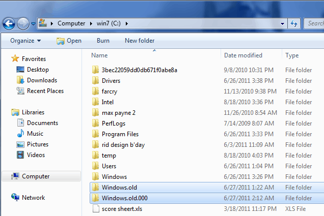 The Windows Old Folder Files-Here Are 6 Windows Files and Folders You Can Delete to Save Your Disk Space (1)