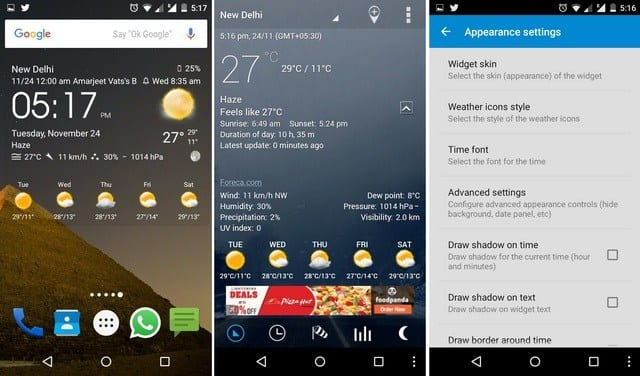 Transparent-Clock-Weather-15 Best And Beautiful Weather Widgets For Your Android Home Screens