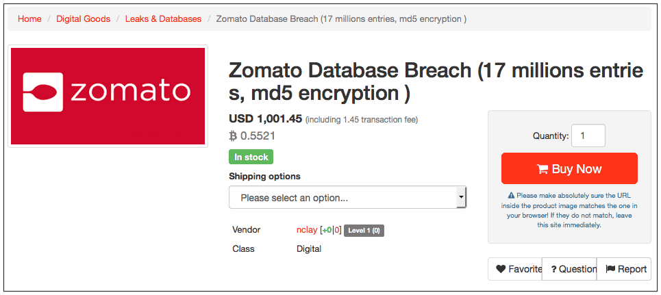 Zomato Hacked; 17 Million User Records Stolen And Put For Sale On Dark Web (3)