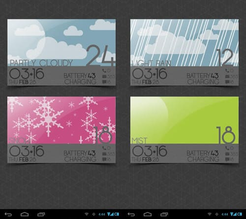 weather-cards-15 Best And Beautiful Weather Widgets For Your Android Home Screens