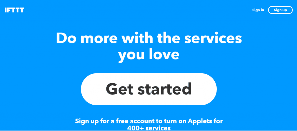 Get started with IFTTT