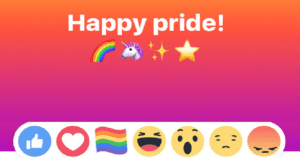Here's How To Get The New Rainbow Pride Reaction On Facebook To Celebrate LGBT Pride Month.
