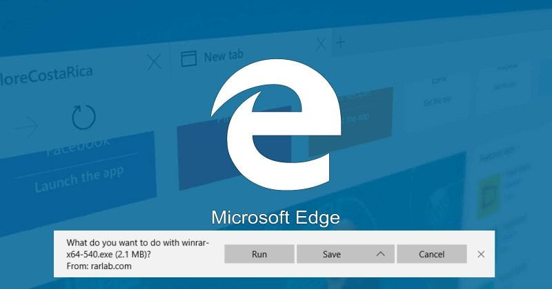 disable download prompt in microsoft edge