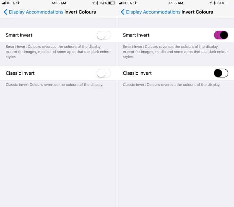 Smart Invert-27 Awesome iOS 11 Features You Probably Haven't Heard of Yet