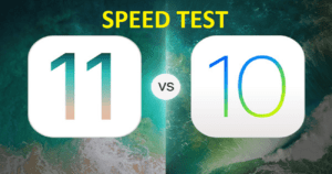 speed test ios11 vs ios 10